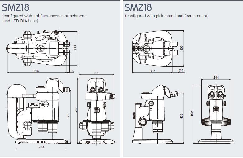 SMZ18尺寸图